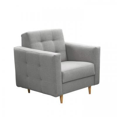 Kárpitos fotel, szürke - PYLA